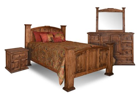 Rustic Bedroom Furniture Sets by Rustic Bedroom Set Pine Wood Bedroom Set 4 Bedroom Set
