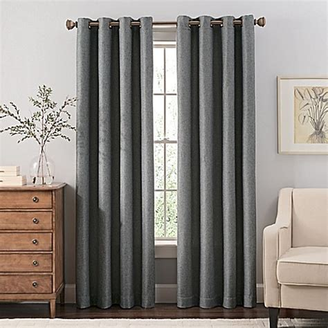 Steel Grey Curtains Buy Reina 84 Inch Grommet Top Window Curtain Panel In Steel Grey From Bed Bath Beyond