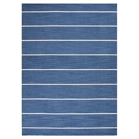white striped rug blue and white stripe rug live it