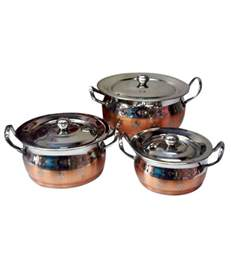 expresso copper bottom cookware set 3 pcs buy online at best price in india snapdeal