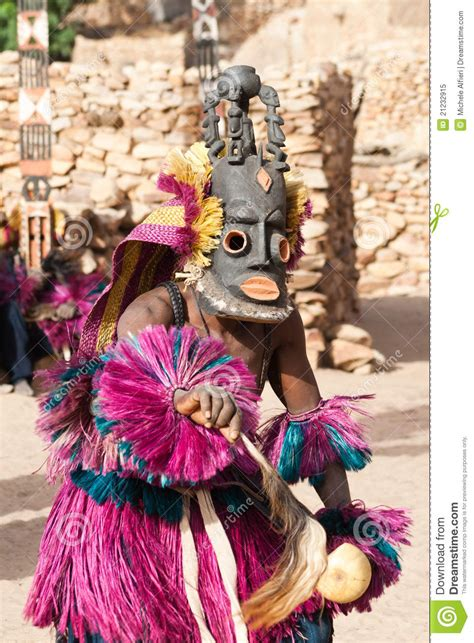 mask   dogon dance mali editorial image image