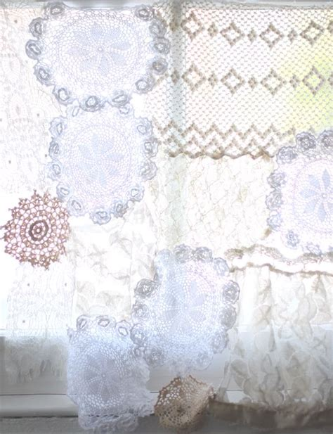 diy lace curtains diy lace doily curtain crochet lace a project and