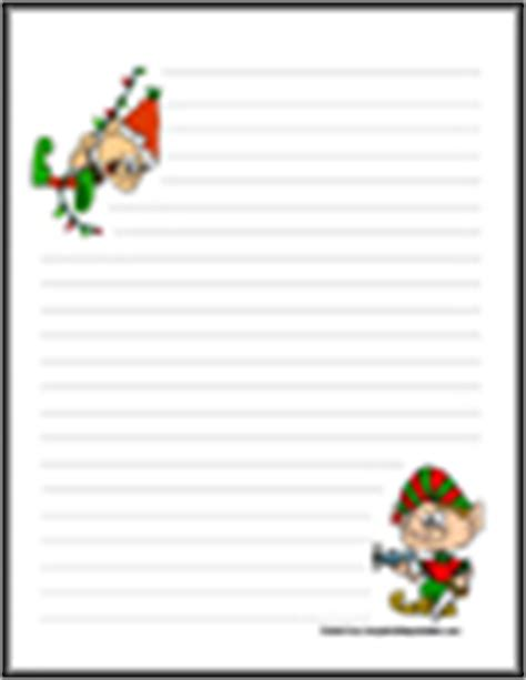 printable elf writing paper christmas stationery