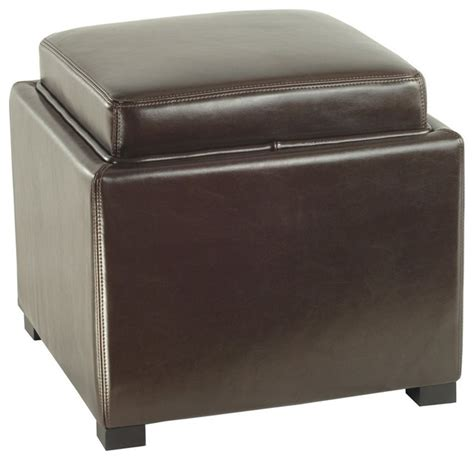 leather square storage ottoman 18 in leather square storage ottoman contemporary