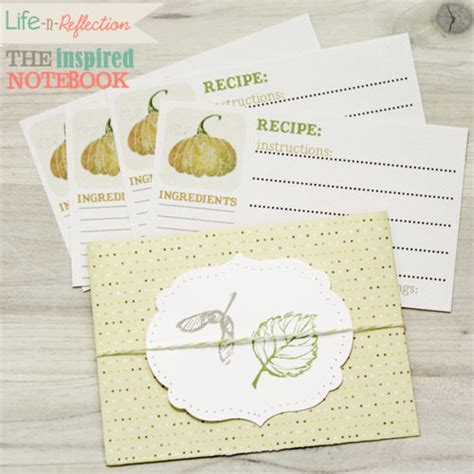 Handmade Recipe Cards - handmade recipe cards pocket tip junkie