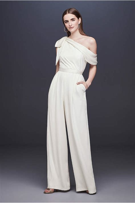 wedding jumpsuits pantsuits rompers davids bridal