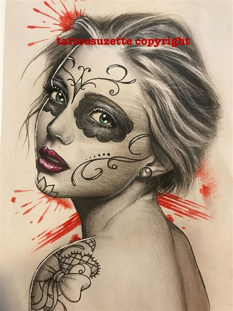 sugar face tattoo designs 1224 best catrina images on chicano