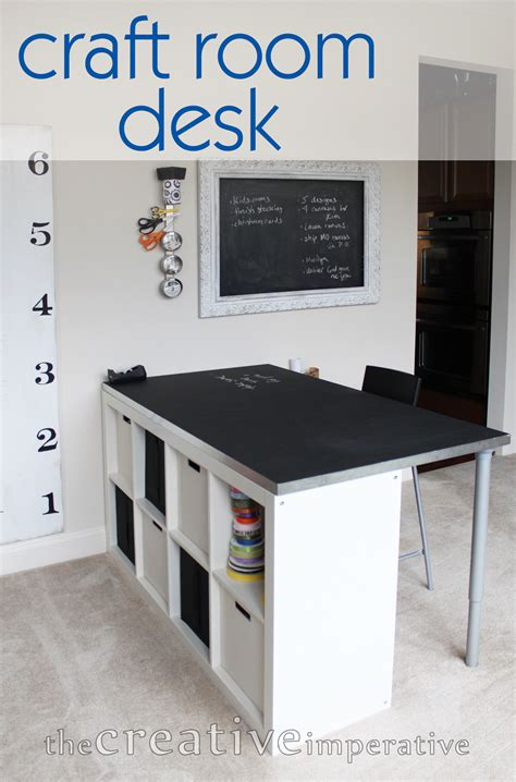 craft room desk ideas the creative imperative craft room desk with shelves