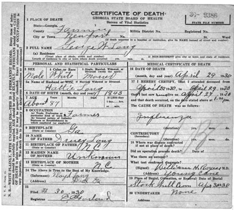 Ga Birth Records Family Of Genealogical Research Website