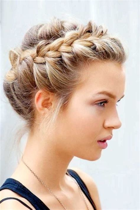 easy hairstles for court braid updo for short hair hair style and color for woman