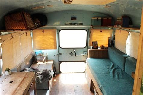 Repurposing Kitchen Cabinets 1988 short school bus converted by group of students