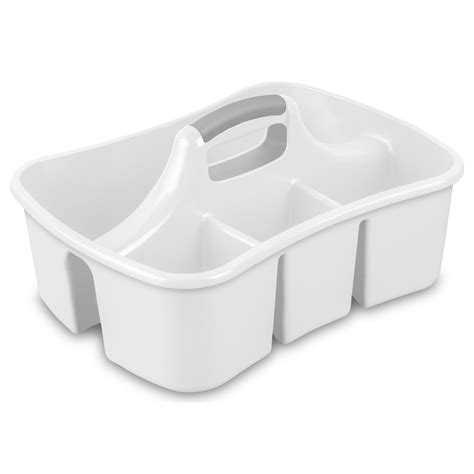 bathtub plastic shop sterilite corporation white plastic bathtub caddy at lowes com