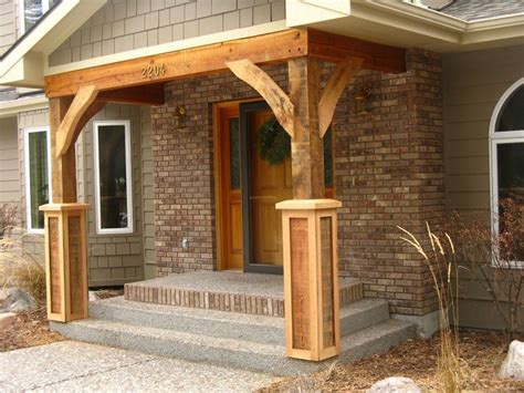 wooden porch posts and columns the rickety brick house love these rustic posts entry pinterest front