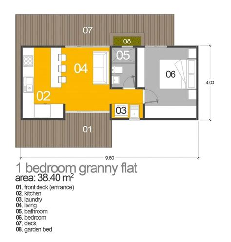 1 bedroom granny flat floor plans 14 best granny flat images on pinterest