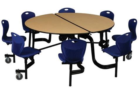 cafeteria tables with attached seating discover mobile cafeteria chair units cafeteria and cafe