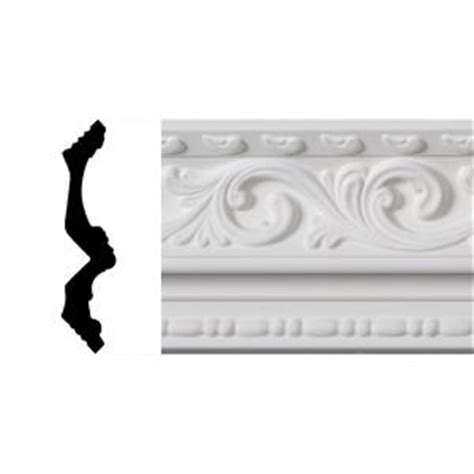 decorative crown moulding home depot lynea molding wave collection 6 in x 8 ft polyurethane crown molding wc46401 the home depot
