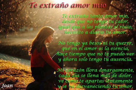 imagenes te extraño amor mio amor mio te extra 241 o poema