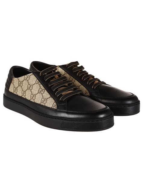 gucci sneakers for gucci sneakers gg marrone in black for beige lyst