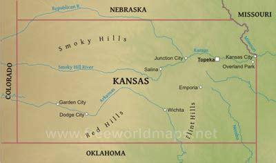 kansas located   map