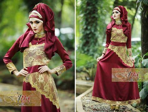 Spesial Promo Baju Atasan Tunik Dress Brukat Brokat Black Series Kerah busana muslim koleksi terbaru