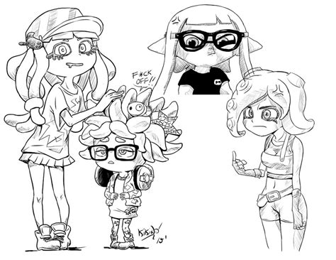 Splatoon 2 Sketches by Splatoon Sketches By Comadreja On Deviantart