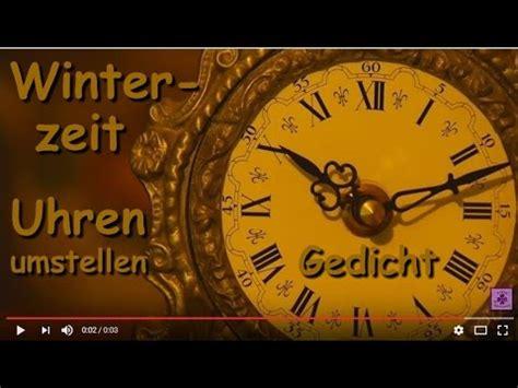 wann uhr umstellen fg179 zeitumstellung winterzeit gedicht 252 bers