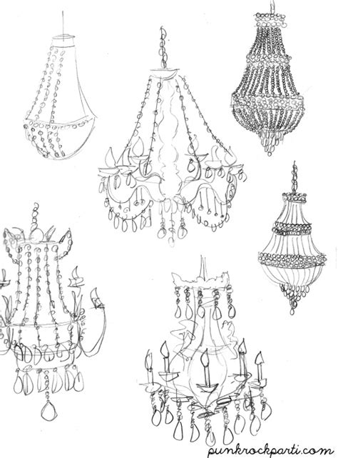 How To Draw A Chandelier 1000 Images About Chandeliers Sketch On Ls Lighting And