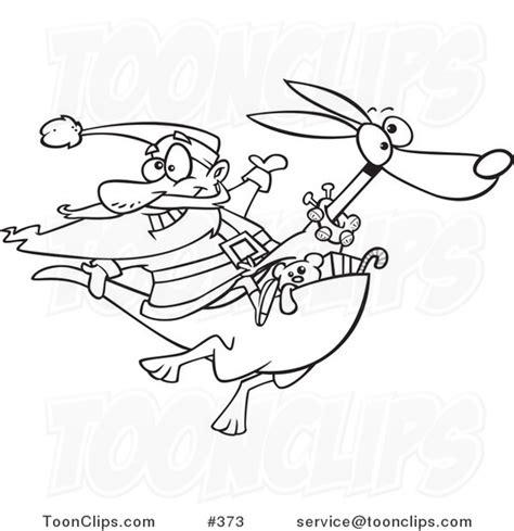 santa kangaroos coloring pages cartoon coloring page line art of santa riding a kangaroo