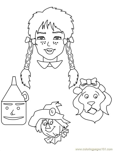 Wizard Of Oz Coloring Page Free Wizard Of Oz Coloring Wizard Of Oz Printable Coloring Pages