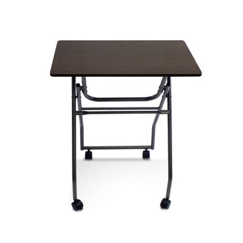 Folding Table On Wheels Easi Folding Multi Purpose Personal Tv Table With Wheels By Furinno