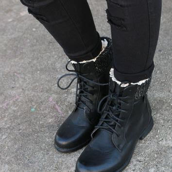 shady groves black lace up combat ankle from amazing lace