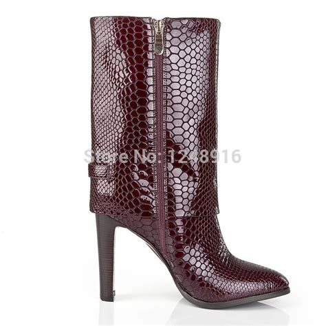top new 2015 motorcycle boots snakeskin thigh high