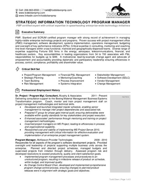 Scrum Master Resume by Scrum Master Resume Sle Resume