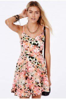 Wn Dress Trily Yellow Scuba shop new florals at missguided