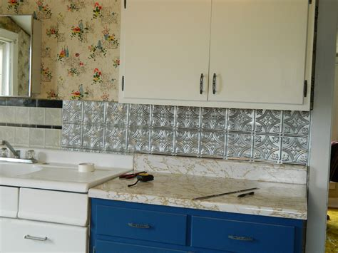 Kitchen Backsplash Ideas No Tile Diy Peel And Stick Backsplash Easy Home Decorating Ideas