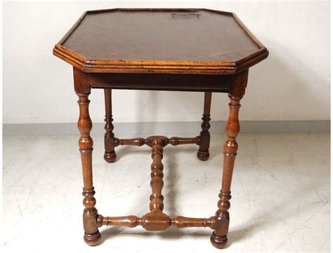 table louis xiii walnut desk leather foot antique