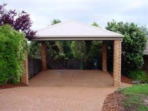 House With Carport Detached Carport With Brick Columns Carports Pinterest