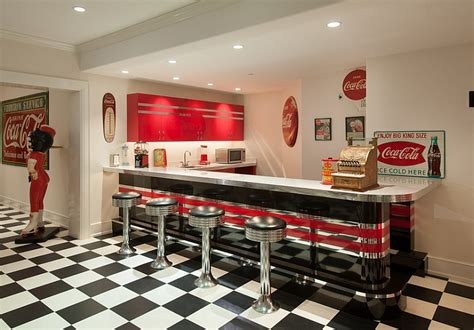 Nostalgic Kitchen Decor by Nostalgic 50 S Diner Look For The Bar Area With Vintage