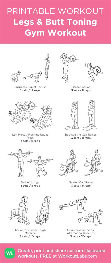 printable workout plan to lose weight and tone up gym workout routines for weight loss and toning pdf eoua