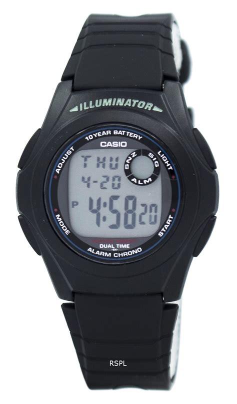 Gshock Dual Time casio g shock illuminator dual time alarm chrono f 200w 1a