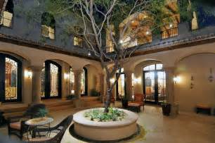 homes with courtyards spanish colonial courtyard hacienda style pinterest