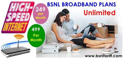 bsnl introduces below 500 two unlimited broadband plans