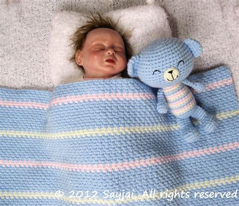 easy baby blanket crochet pattern sayjai amigurumi