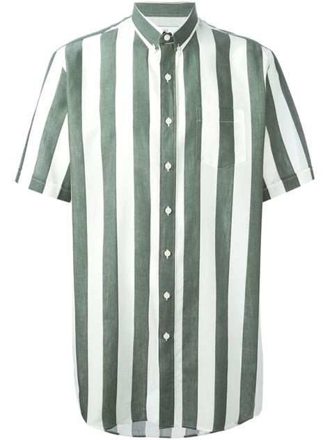 Sleeve Striped Shirt lyst ami striped sleeve shirt in white for