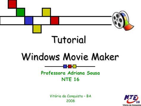 tutorial movie maker pdf portugues usando o moviemaker
