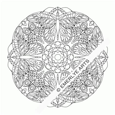 butterfly mandala coloring page free butterfly mandala coloring pages coloring home