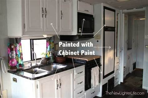 nuvo cabinet paint update in rv rv remodel pinterest