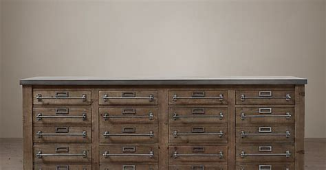 restoration hardware filing cabinet early 20th c zinc top mercantile sideboard from