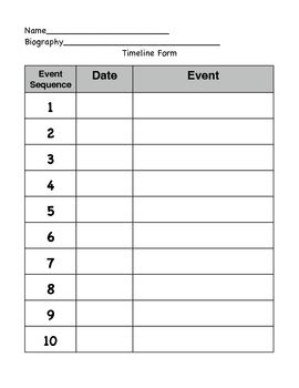 free data card template elementary school timeline form by carrie anguzza teachers pay teachers