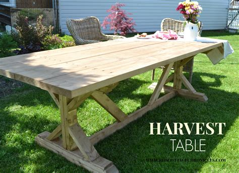Patio Table Plans Diy Pdf Outdoor Harvest Table Plans Plans Woodworking Plans For Building Trammel414